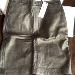 DKNY Vintage Leather Skirt